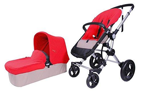 Baby Ace 3011700100004 - Pack con cochecito para bebé Baby Ace 042, base arena + set de invierno, color rojo