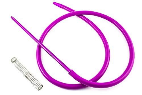 Tubo per narghilè con molla e beccuccio in materiali di alta qualità con finiture eccezionali. Viola