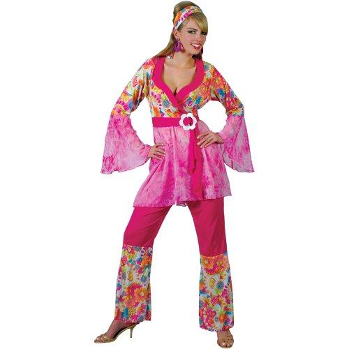GROOVY HIPPIE CHICK 1970S FANCY DRESS COSTUME ALL (Chick Kostüm Hippie)