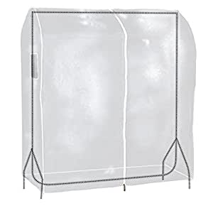 Hangerworld 4 ft (120cm) Transparent Clothes Garment Rail Cover with Strong Zipper and Document Pocket