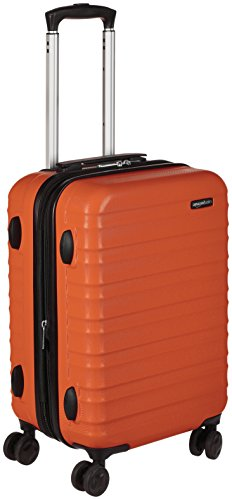 AmazonBasics Valise rigide taille cabine 56cm, Orange brûlé