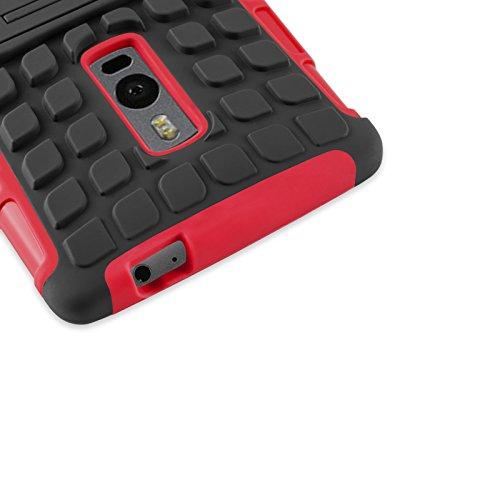 Cover iPhone 5s, JAMMYLIZARD [Alligator] Custodia Heavy Duty in Silicone TPU e Polimero per Apple iPhone 5 / Apple iPhone 5s / Apple iPhone SE, ARANCIONE ROSSO