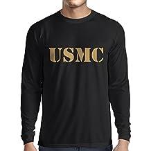 N4446L Camiseta de manga larga USMC