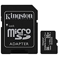 Kingston Canvas Select Plus SDCS2/32GB Scheda microSD Classe 10 con Adattatore SD Incluso, 32 GB