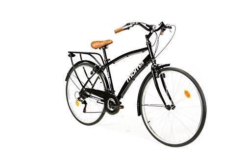 Moma bikes, Bicicletta Passeggio Citybike SHIMANO. Alluminio, 18 velocità, ruota da 28'