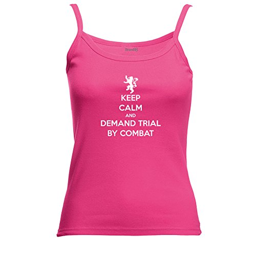 Brand88 - Keep Calm and Demand Trial By Combat , Spagetti Traeger Top Rosa