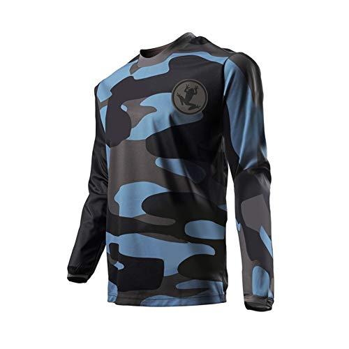 Erwachsenen-trikots (Uglyfrog Element Herren MX Motocross/Downhill Jersey Trikot Shirt Enduro Offroad Motorrad Erwachsene Motorräder Zubehör Kurz/Lang Ärmel SJF09)