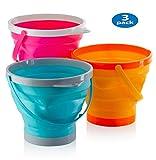ToyZe® Godets rabattables en 10 po Godets pliants en silicone Multi-usage 5 litres, 1,5 gallons (paquet de 3)