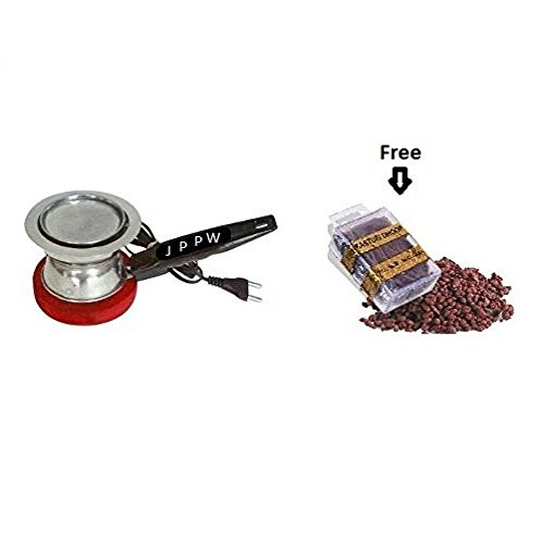 J.P.Perfumery Works Electric Dhoop Dani Incense Bakhoor Burner for Home Office Temple God Puja  available at amazon for Rs.349