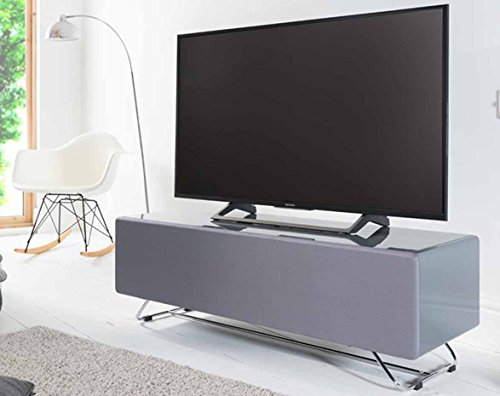 Alphason CRO2-1200CPT Chromium Concept Grey TV Stand with Speaker Mesh Front Best Price and Cheapest
