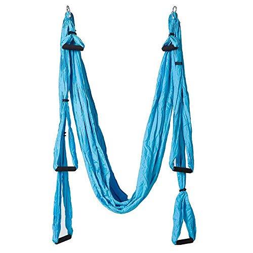Pawaca Aerial yoga Swing, ultra Strong yoga amaca con paracadute tessuto e manici, antenna kit trapezio, grande set di inversione Air Fly Sling, amaca/trapezio per interni e esterni con salute, Scarpe da fitness/cross-training da uomo