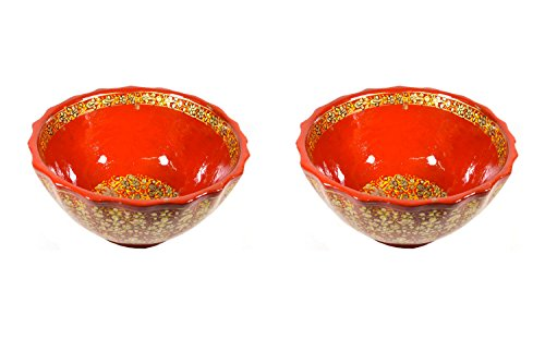 Royal Kurta Royal Handicrafts Handcrafted Paper Mache Bowl -Set of 2
