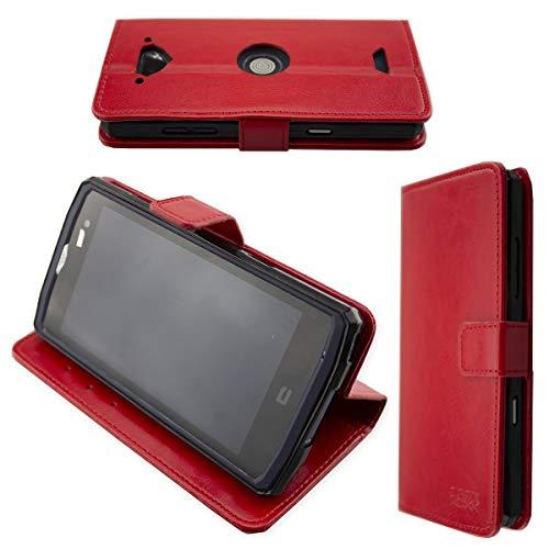 caseroxx Hülle/Tasche Bookstyle-Case Crosscall Core-X3 Handy-Tasche, Wallet-Case Klapptasche in rot