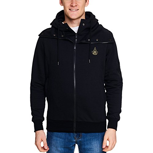 gins - Symbol Kapuzenjacke schwarz XL (Assassins Creed Kapuze)