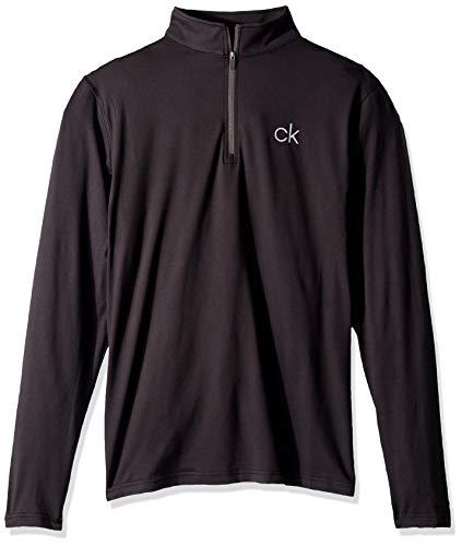 Calvin Klein Herren Newport Half Zip Golf-T-Shirt, schwarz, X-Groß