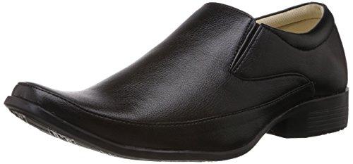 Vokstar Men's Black Formal Shoes - 9 UK (V-6105)
