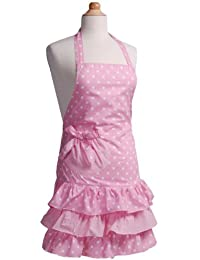 Flirty Aprons Girl's Marilyn Strawberry Shortcake Apron by Flirty Aprons
