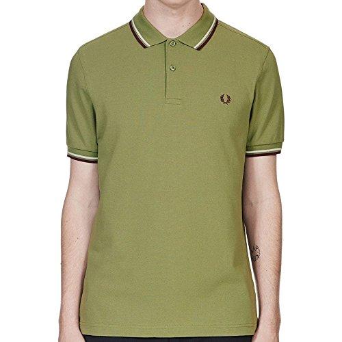 Fred Perry Herren Poloshirt grün grün Olivgrün