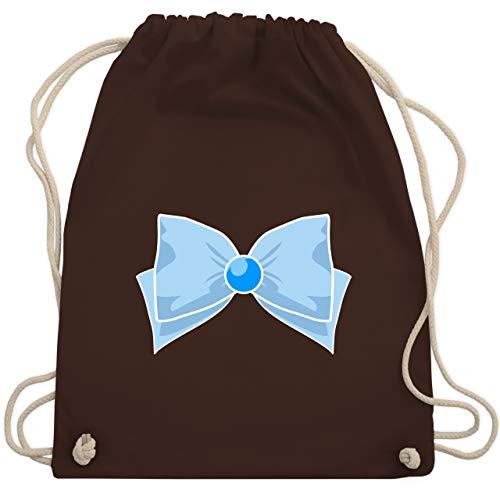 Kostüm Sailor Merkur - Karneval & Fasching - Superheld Manga Merkur Kostüm - Unisize - Braun - WM110 - Turnbeutel & Gym Bag
