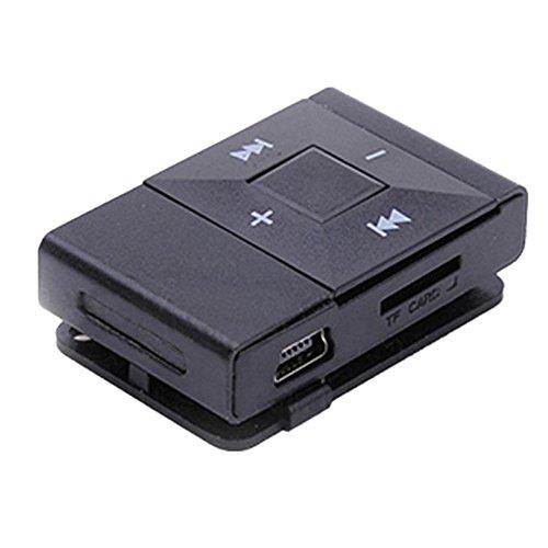Amlaiworld Legierungsschale USB Mini MP3-Player Casual Fitness Elektronisch geräte Sport Urlaub Musik Player Lässig Classic Clip Tragbare Audio Zubehör Unterstützt 8GB SD TF Karte (Schwarz)
