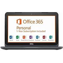 "2018 Dell Inspiron 11 3000 11.6"" HD Laptop Computer, AMD A6-9220e Up To 2.4GHz, 4GB DDR4 RAM, 32GB EMMC + 256GB SD, HDMI, WiFi, USB 3.0, Microsoft Office 365, McAfee LiveSafe, Windows 10 Home"