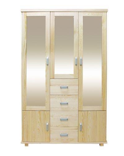 Kiefer-Kleiderschrank A-Qualität Natur 195x121x50 cm