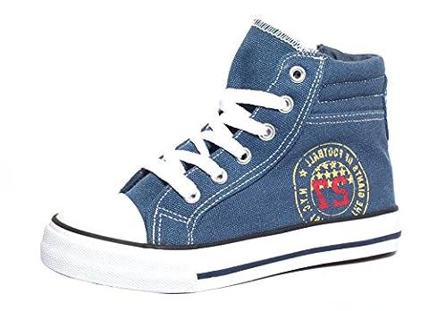 Kinder Canvas Sneaker Gr. 34 Schuhe Kinderschuhe Freizeitschuhe Sportschuhe navy
