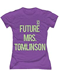 One Direction Future Mrs. Tomlinson Damen T-Shirt Slim Fit lila
