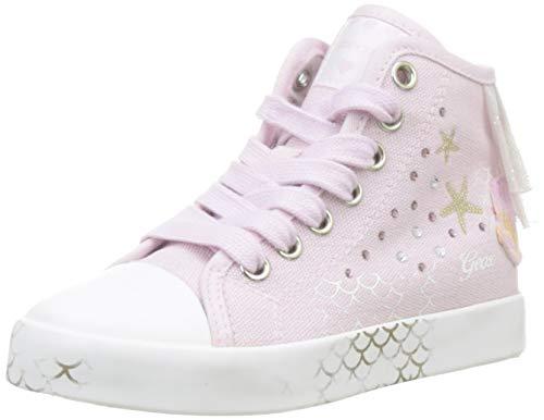 Geox Jr Ciak E, Zapatillas Altas Niñas, Rosa Pink