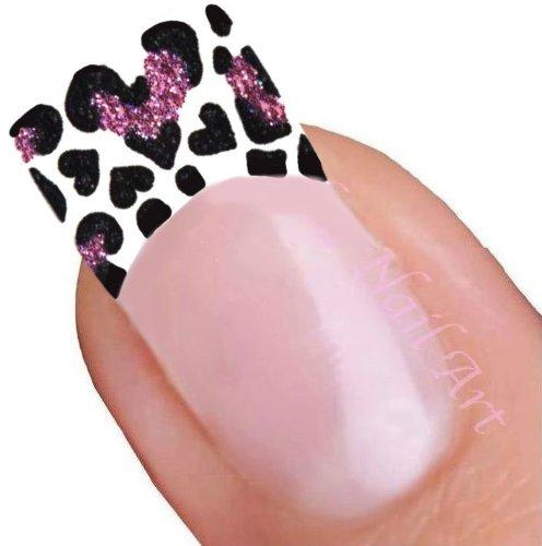 Motif léopard. Autocollants pour ongle.