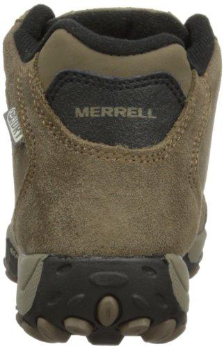 Merrell CHAM SPIN WTPF KIDS J95405, Scarponcini da escursionismo unisex bambino Marrone (Braun (GUNSMOKE/SULPHUR))
