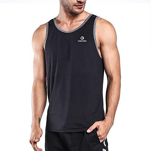 Ogeenier Herren Sommer Sport Tank Top Muskelshirt für Training Gym Fitness & Bodybuilding Herren-polyester-spandex