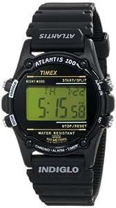 Timex Homme T5K463 Atlantis 100 Noir Resen Montre Bracelet