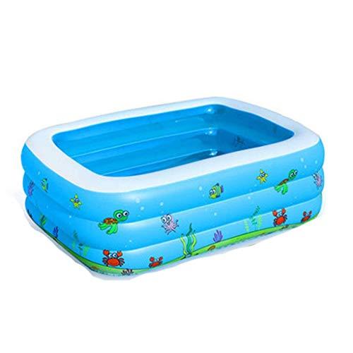 Kinderbecken Dicker Großer Pool Erwachsene Familien-Badewanne Aufblasbare Pool-Blau-Badewanne (Size : 190cm*140cm*60cm) ()