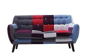 Divano a 2posti Love Seat New retro vintage patchwork piccolo spazio Living UK stock