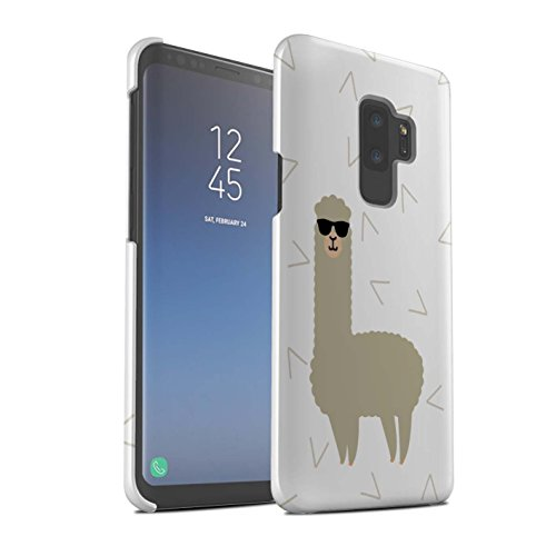 Stuff4® Matte Snap-On Hülle/Case für Samsung Galaxy S9 Plus/G965 / Coole Sonnenbrille Muster/Süßes Alpaka Kollektion