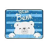 KAOROU Handgezeichnete Eisbär Tragbare Und Faltbare Decke Matte 60x78 Zoll Handliche Matte Für Camping Picknick Strand Indoor Outdoor Reise