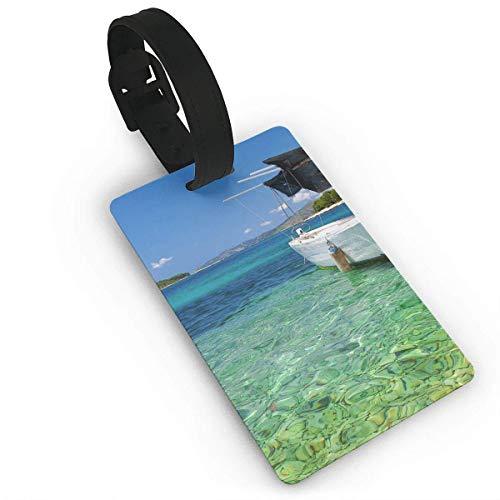 Etiquette de Bagage avec Carte d'identité Ocean Water...