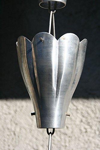 RegenKette zu cup Aluminium für Dachrinnen ForHome® Blume - Fähigkeit Drain 5/5 - Kompletter Kettensatz