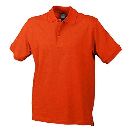 JAMES & NICHOLSON Hochwertiges Polohemd mit Armbündchen dark-orange