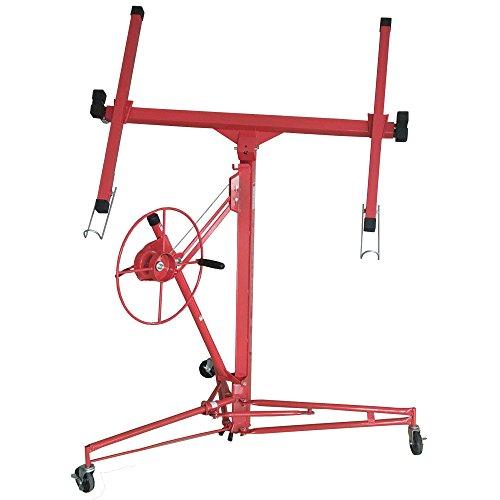 Jalano Plattenheber Plattenlift Montagehilfe für Platten mit Kurbelmechanismus und Feststellbremse, Höhe bis zu 336 cm, klappbarer Heber