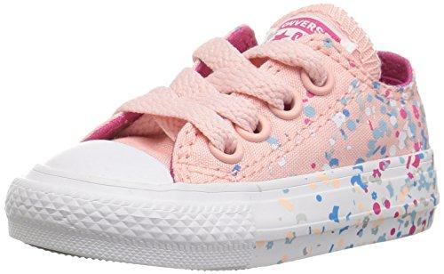 Converse Mädchen Chuck Taylor All Star Metallic Foil Low Top Sneaker, 2 M US-Kleinkind (2 M) US-Kleinkind Orchid Rosa