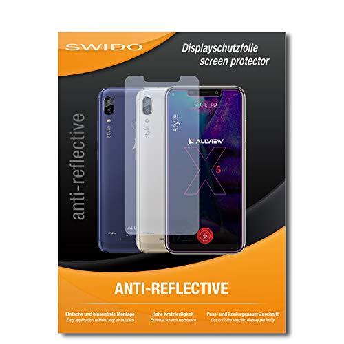 SWIDO Schutzfolie für Allview Soul X5 Style [2 Stück] Anti-Reflex MATT Entspiegelnd, Hoher Härtegrad, Schutz vor Kratzer/Bildschirmschutz, Bildschirmschutzfolie, Panzerglas-Folie
