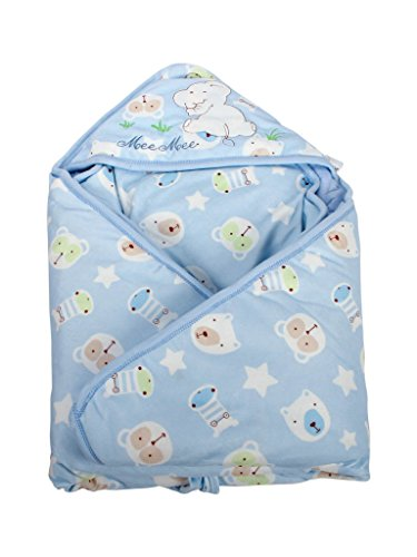 Mee Mee Comfy Baby Wrapper Blanket with Hood (Blue)  available at amazon for Rs.839