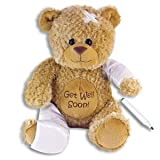 15 Plush GET WELL SOON Teddy Bear w/Cast for Autograph - Speedy Recovery GIFT for Hospitalized CHILD Adult - KEEPSAKE by The Big Discount