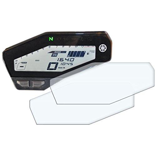2x YAMAHA MT-09 / FZ-09 Displayschutzfolie Tachoschutzfolie Screen Protector - Anti-Glare Kit Anti Glare Screen Protector