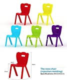#4: Intra kids chair school study chair vertical striped lace chair (28cm) (Red)