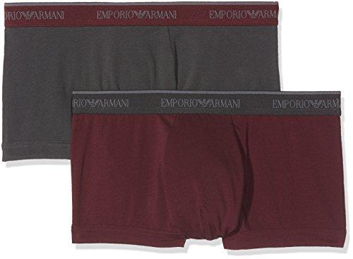 Emporio Armani Underwear Herren Boxershorts 1112107A717, Mehrfarbig (Fumo/Melanzana 18944), Small (Armani Herren-unterwäsche)