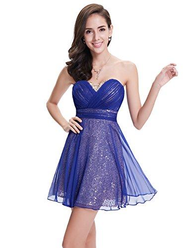 Ever Pretty Robe de cocktail Mini Bustier Sexy 05290 Bleu Saphir