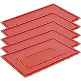 5STK Tapa para caja de transporte Caja de almacenamiento apilables, E1, E2, E360x 40invitados Lando